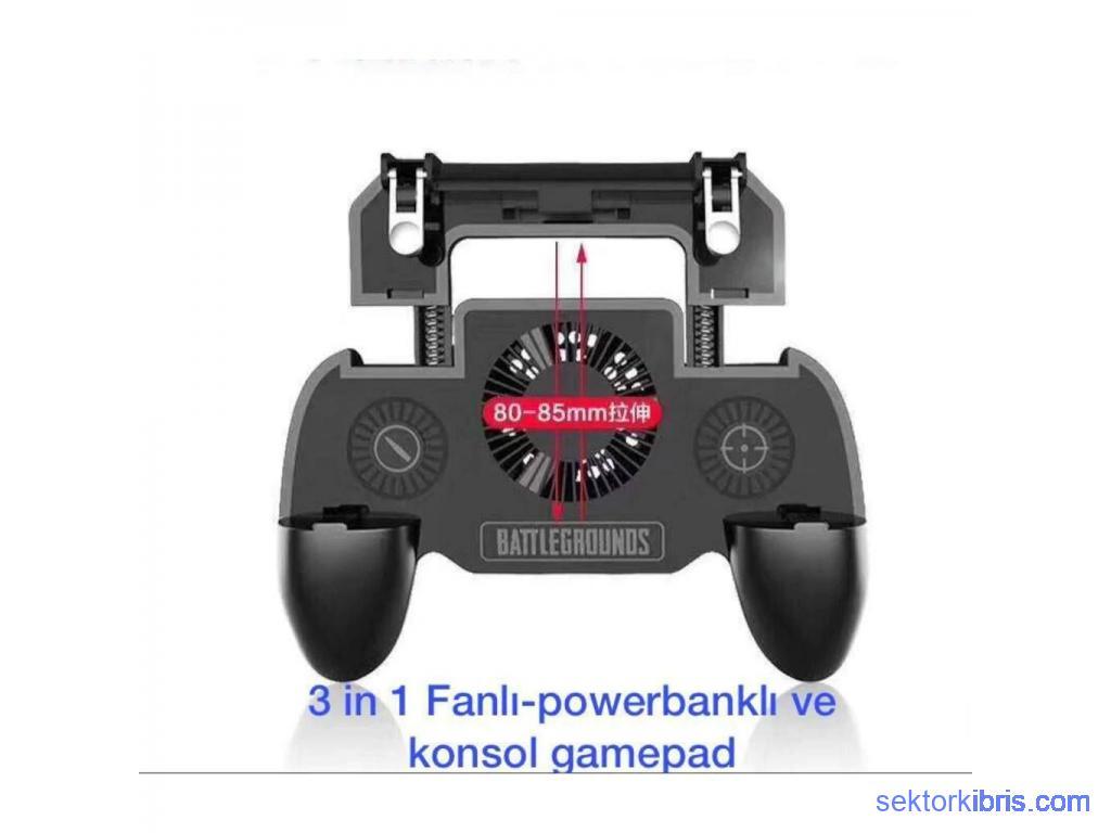 Soğutucu ve Powerbankli Pubg Ateş Tetik Düğme Joystick 2000mAh SR