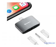 Benks U32 Lightning 3 in 1 Audio Adapter
