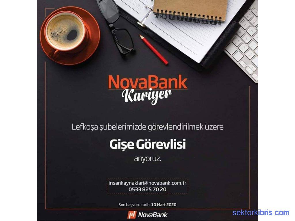 Münhal Novabank Gişe Görevlisi iş ilanı